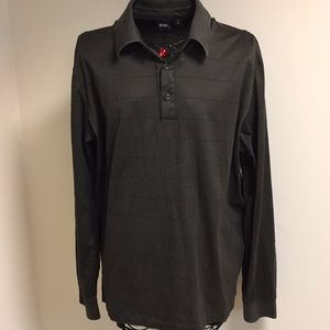 Hugo Boss Green Mens XL Long Sleeve Polo Shirt Top